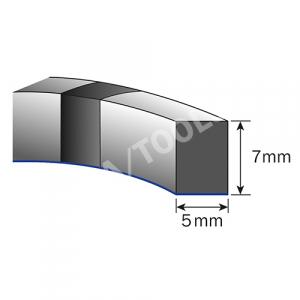 Foam rubber profile self-adh., 5x7 mm, 15 m
